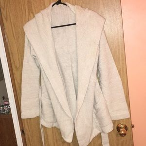 free people heavy cardigan with hood